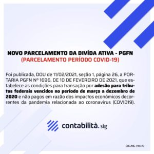 Novo Parcelamento Da DivÍda Ativa Pgfn - contabilità.sig | Soluções Inteligentes em Gestão