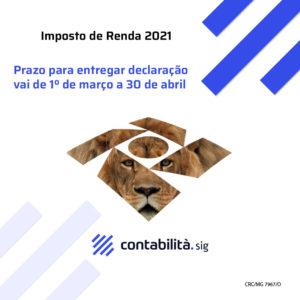 Imposto De Renda 2021 - contabilità.sig | Soluções Inteligentes em Gestão