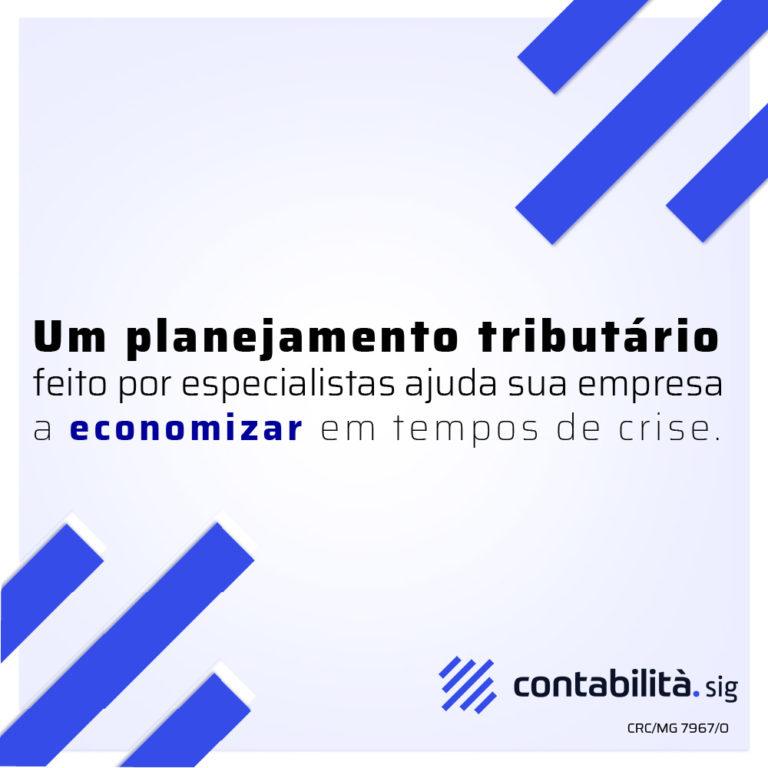 Planejamento Tributário - contabilità.sig   Soluções Inteligentes em Gestão