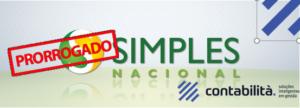 Prorrogação Simples Nacional - contabilità.sig | Soluções Inteligentes em Gestão